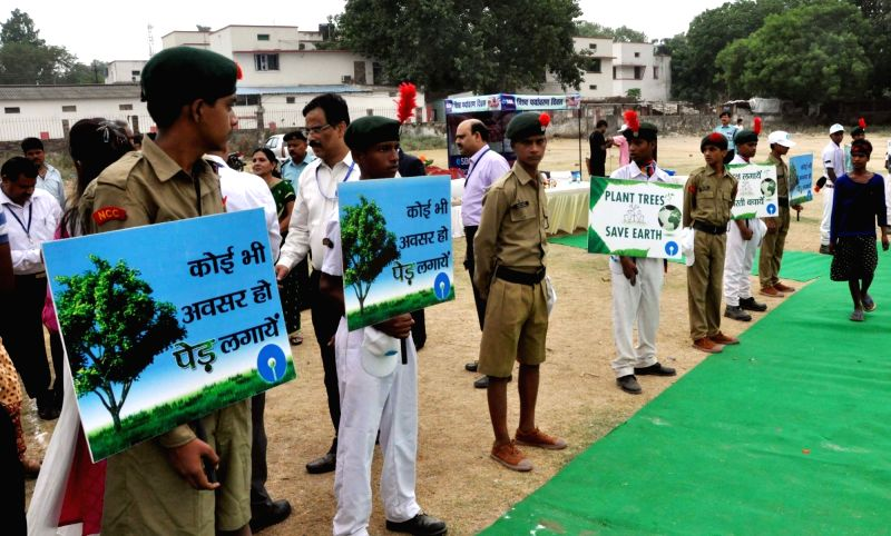 Children participate during a programme organised on World Environment Day in Patna on June 5, 2017.