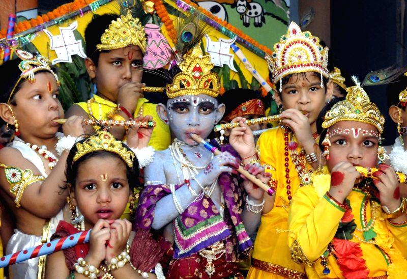 Children participate in Krishna Janmashtami celebrations