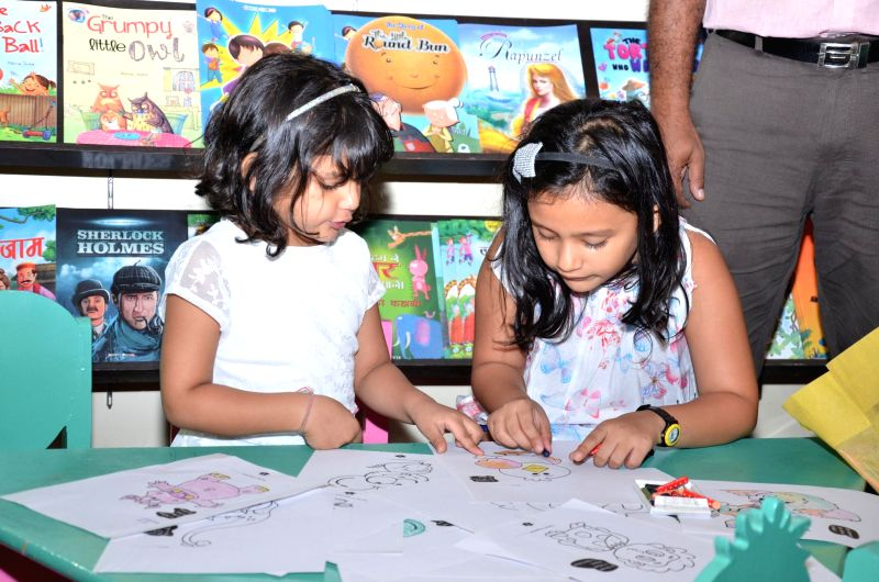 Children visit 20th Delhi Book Fair in New Delhi on Aug 28, 2014.