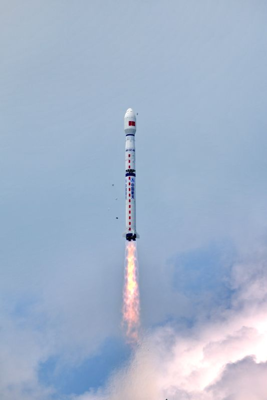 : China launches the Gaofen-11 satellite on a Long March 4B rocket from the Taiyuan Satellite Launch Center in Taiyuan, capital of north China's Shanxi ...
