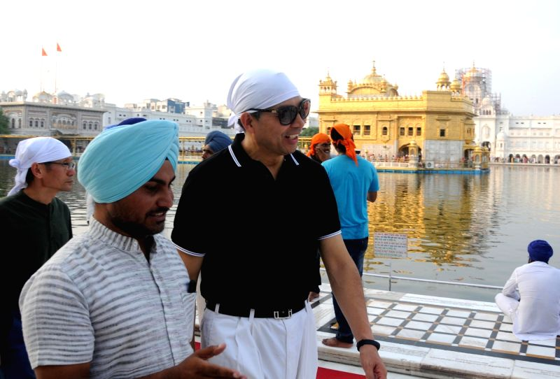 China's ambassador to India Luo Zhaohui during his visit to Golden Temple, in Amritsar, on Aug 10, 2018.