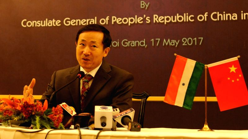 "Chinese Consul General in Kolkata Ma Zhanwu during a press conference in Kolkata on ""Belt and Road Forum for International Cooperation"" in Kolkata, on May 17, 2017."