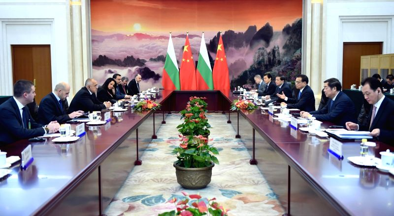 Chinese Premier Li Keqiang meets with Bulgarian Prime Minister Boyko Borissov in Beijing, capital of China, Nov. 26, 2015. Boyko Borissov was in China to attend the ... - Boyko Borissov