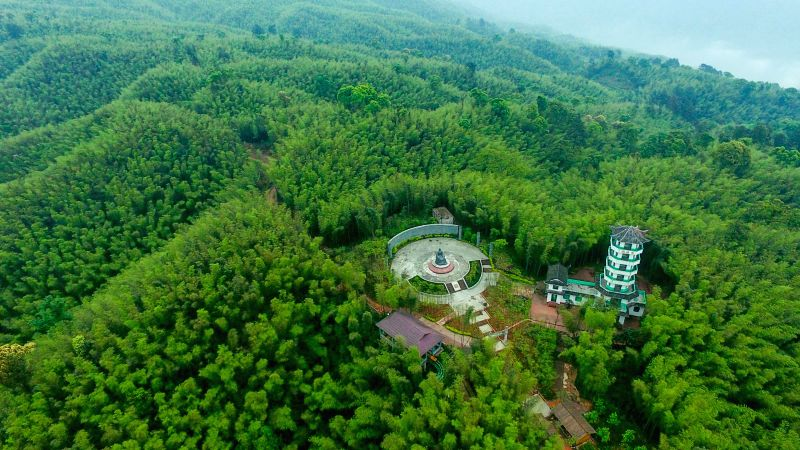 CHISHUI, May 10, 2017 - Aerial photo taken on May 10, 2017 shows the Chishui Bamboo Forest Park in southwest China's Guizhou Province.