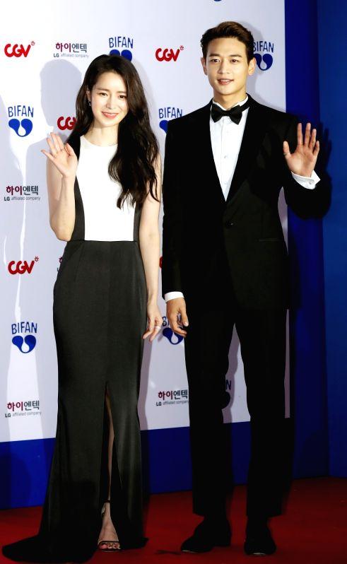 Choi Min-ho (R) of boy group SHINee and actress Lim Ji-yeon attend the opening ceremony of the Bucheon International Fantastic Film Festival (BIFAN) at Bucheon City Hall in Bucheon, Gyeonggi ... - Lim J