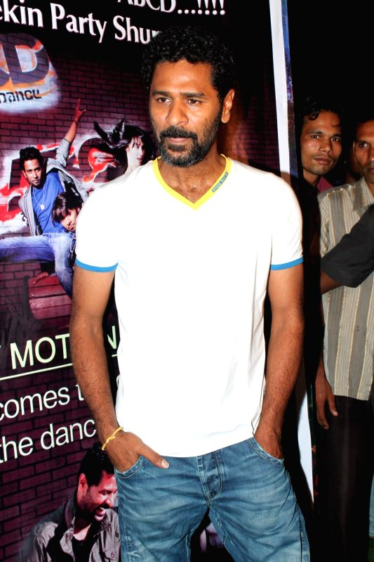 Choreographer-director Prabhu Deva at ABCD - Any Body Can Dance film press meet Mumbai, India.