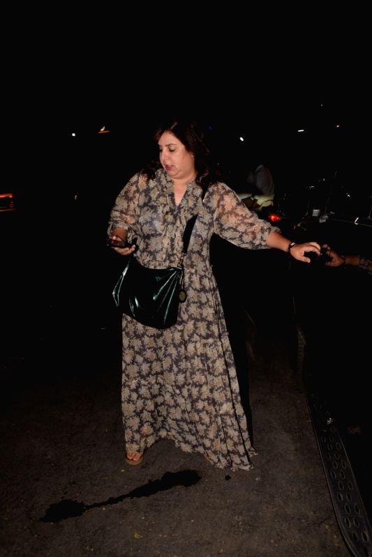 Choreographer-filmmaker Farah Khan seen at a salon in Mumbai on Feb 2, 2018. - Farah Khan