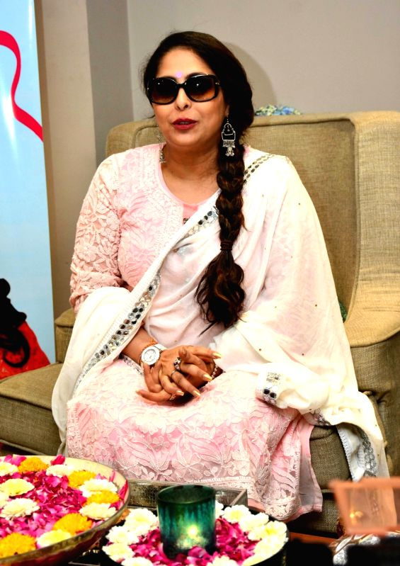 Choreographer Geeta Kapoor addresses a press conference in Jaipur on April 21, 2017. - Geeta Kapoor