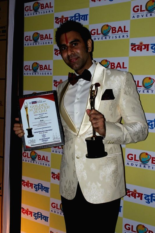 Choreographer Sandip Soparrkar during the AIAC golden achiver awards in Mumbai, on May 30, 2017.