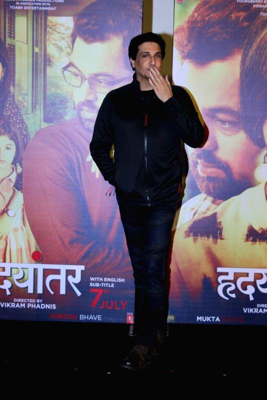 Choreographer Shiamak Davar during the trailer launch of Marathi film Hrudayantar in Mumbai on May 28, 2017.