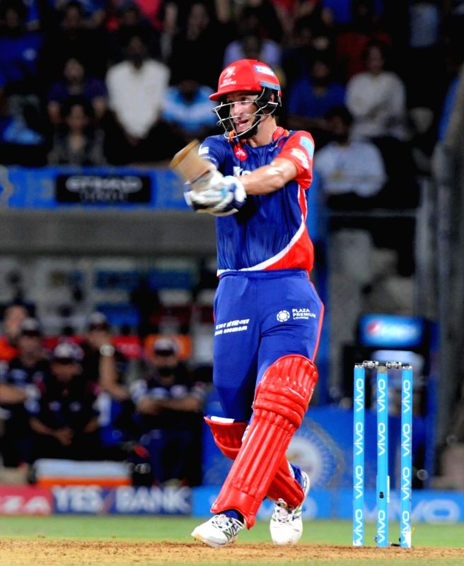 Chris Morris of Delhi Daredevils in action during an IPL 2017 match between Mumbai Indians and Delhi Daredevils at Wankhede Stadium in Mumbai on April 22, 2017.