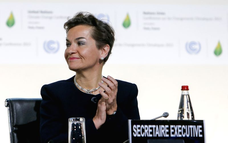 Christiana Figueres, executive secretary of the UN Framework Convention on Climate Change (UNFCCC), attends the opening ceremony of the 21st Conference of the Parties ...