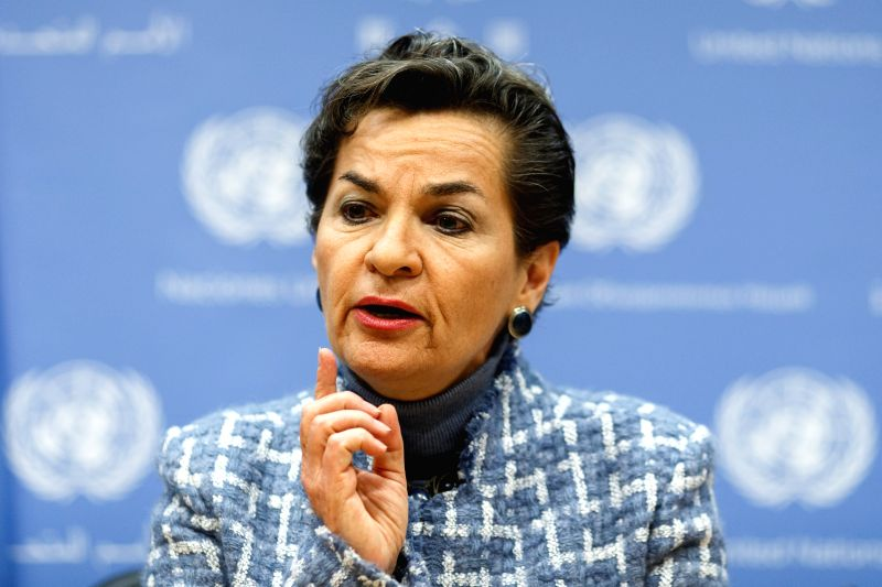 Christiana Figueres, Executive Secretary, United Nations Framework Convention on Climate Change(UNFCCC), attends a press conference on 2016 Investor Summit on ...(Image Source: Xinhua/Li Muzi/IANS)