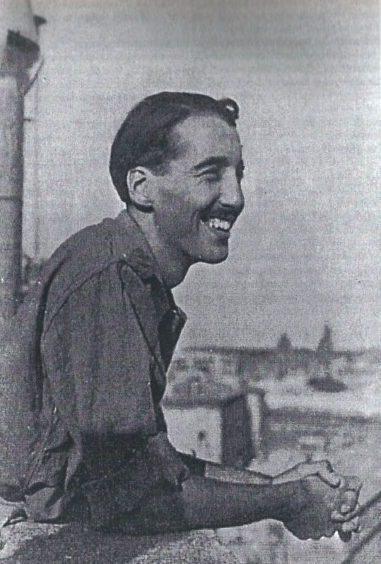 Christopher Lee as a RAF intelligence officer in World War II