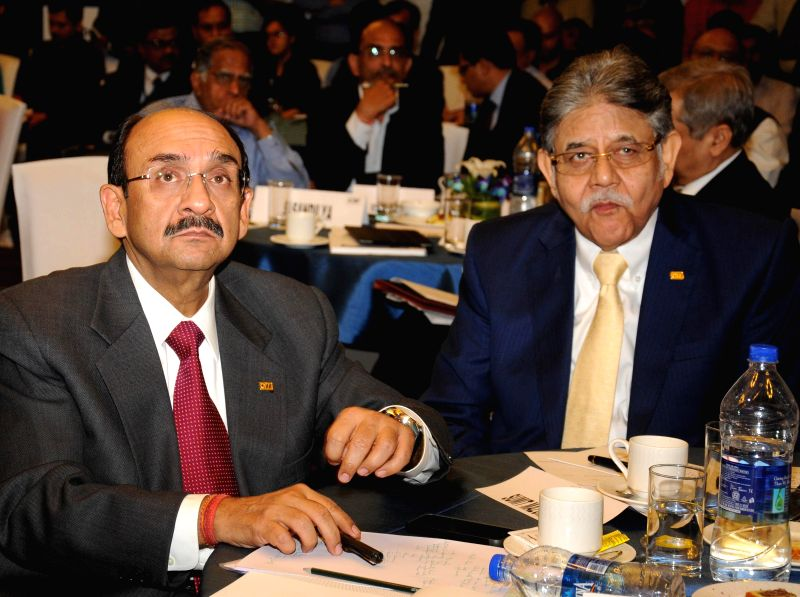 CII president Ajay S Shriram, CII president designate Sumit Mazumder during ASSOCHAM Interactive Session on General Budget 2014-15 in New Delhi on July 10, 2014.