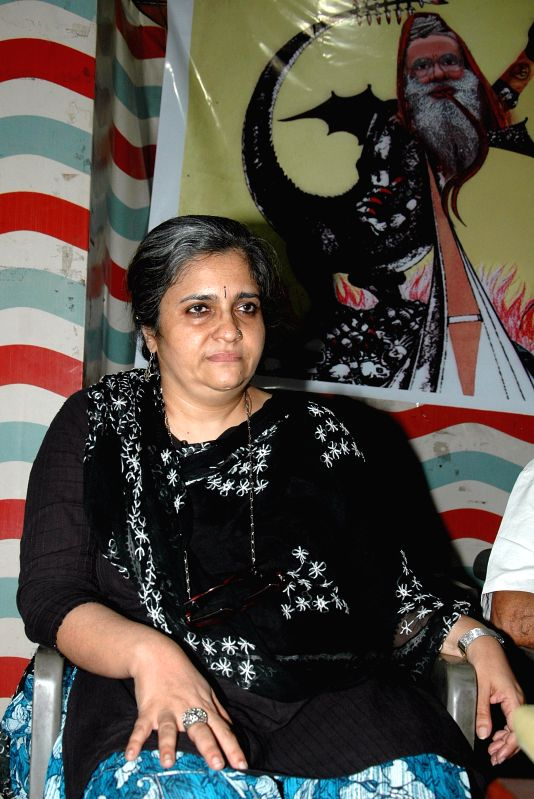 Civil rights activist Teesta Setalvad during a seminar on communalism in Kolkata on Aug 23, 2014.