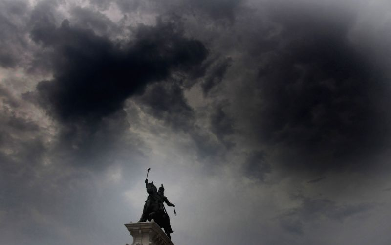 Clouds loom over Amritsar on July 25, 2018.