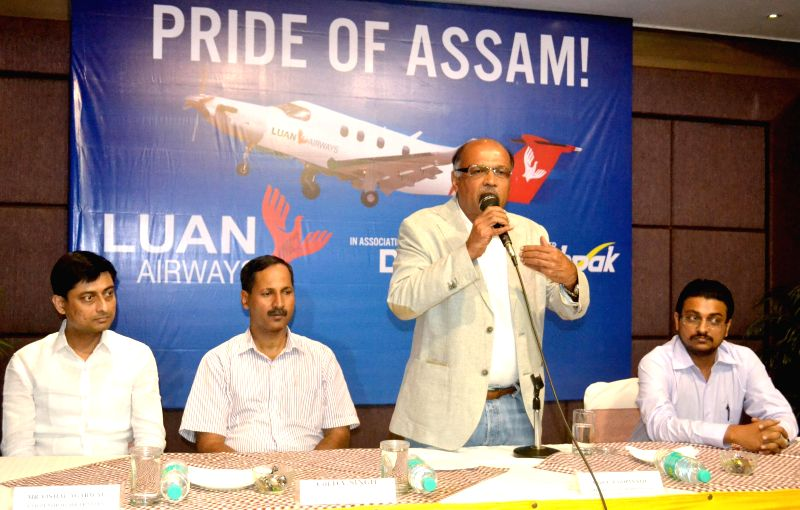 CMD of Deccan Charters Pvt.Ltd, Captain Gopinath and other officials of the company during a press conference organised at the launch of Air Ambulance Service in North-Eastern region of india in ... - Gopinath