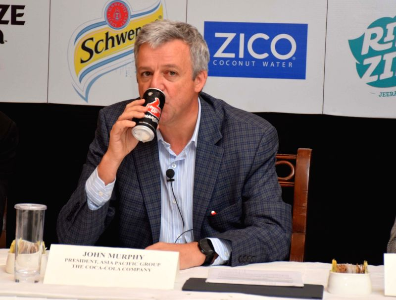 Coca-Cola's Asia Pacific President John Murphy during a press conference in Kolkata on Feb 2, 2018.