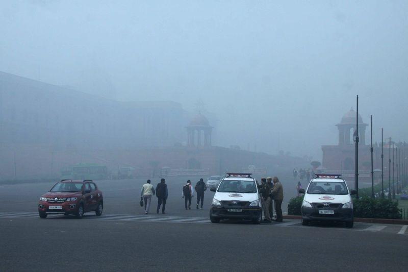 Cold Thursday morning in Delhi