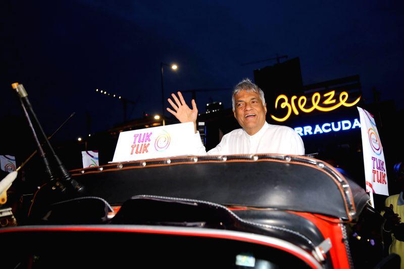 """COLOMBO, July 30, 2018 - Sri Lankan Prime Minister Ranil Wickremesinghe inaugurates """"Tourist Friendly Tuk Tuk Program"""" in Colombo, Sri Lanka, July 30, 2018. The Sri Lankan government on ... - Ranil Wickremesingh"""