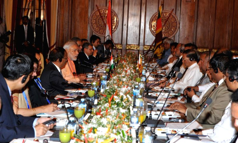 Prime Minister Narendra Modi at the delegation level talks between India and Sri Lanka, in Colombo, Sri Lanka on March 13, 2015. - Narendra Modi