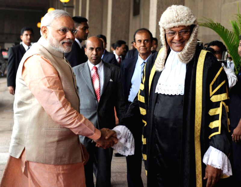 Prime Minister Narendra Modi at the Parliament of Sri Lanka, in Colombo, Sri Lanka on March 13, 2015. - Narendra Modi