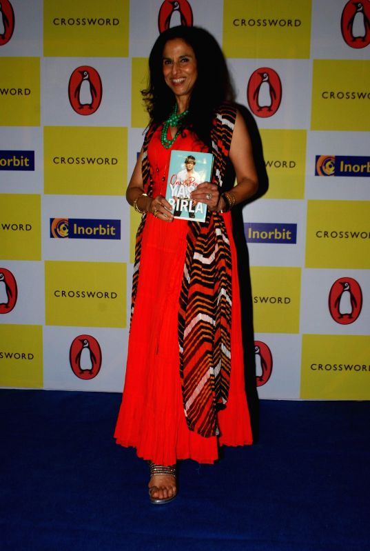 Columnist Shobhaa De during the industrialist Yash Birla`s on a Prayer Book Launch at Crosswords, Inorbit Mall in Mumbai on 22nd April 2014.