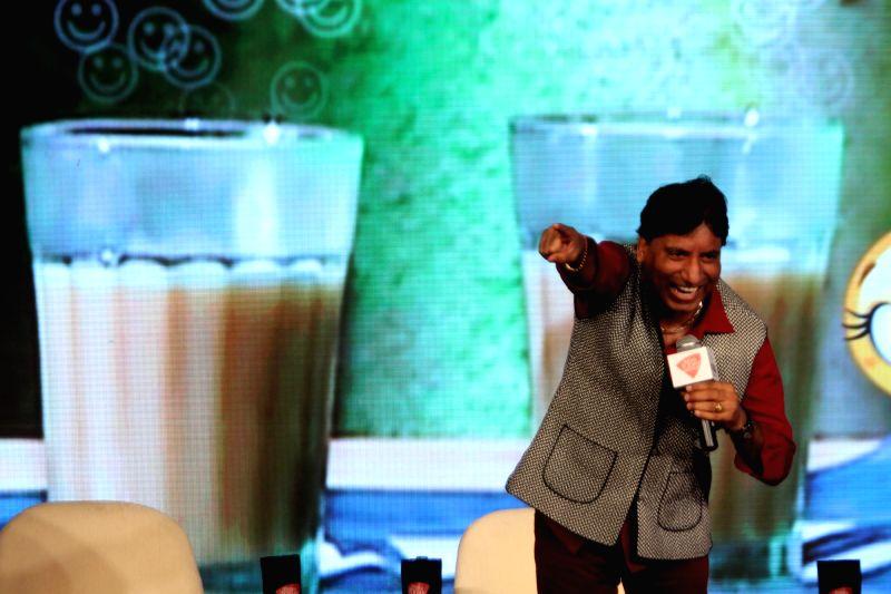 Comedian Raju Srivastav at Agenda 15 organised by Aaj Tak in New Delhi, on Dec 11, 2015.