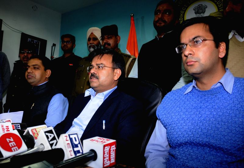 Commissioner Customs Dipak Kumar Gupta addresses after customs authorities seized over 32 kg gold worth Rs 10 crore from a truck at the Attari-Wagah border in Amritsar on Dec 6, 2018. One ...