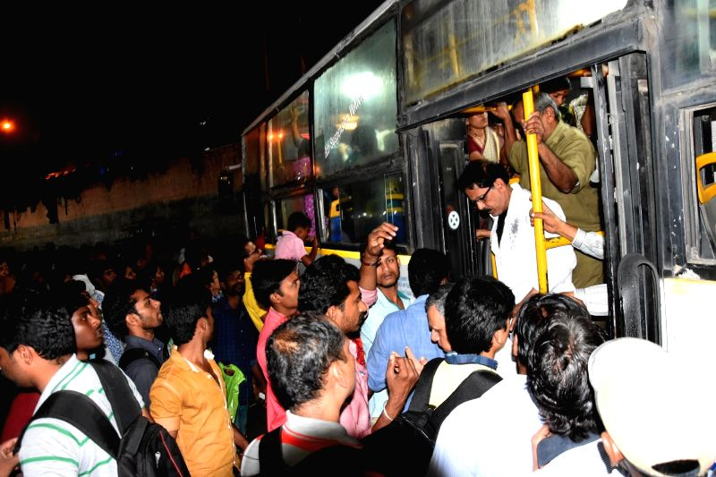 Commuters rushing to reach their destinations due to BMTC and KSRTC buses will go on strike, and the state government has declared a two day holiday for schools and colleges due to the bus ...