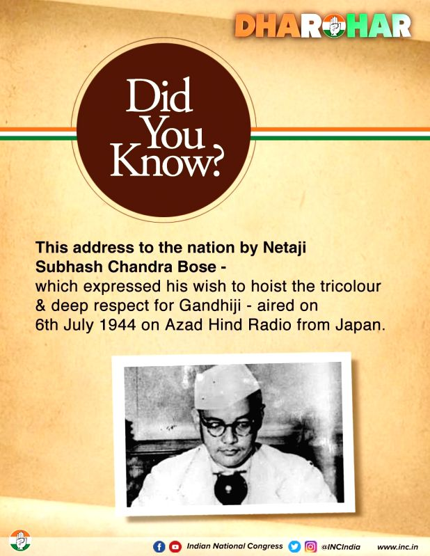 Cong documentary on Subhash Chandra Bose on WB poll eve.(photo:Twitter Congress)