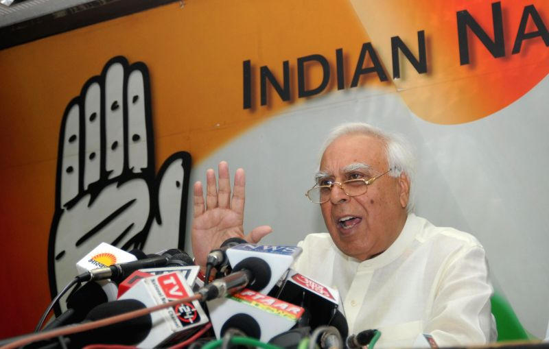 Congress candidate for upcoming 2014 Lok Sabha Election from Chandni Chowk, Kapil Sibal during a press conference in New Delhi on April 21, 2014.