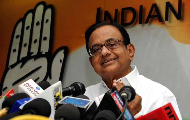 Congress leader and former finance minister  P.Chidambaram during a press conference at party headquarters in New Delhi on June 20, 2014.