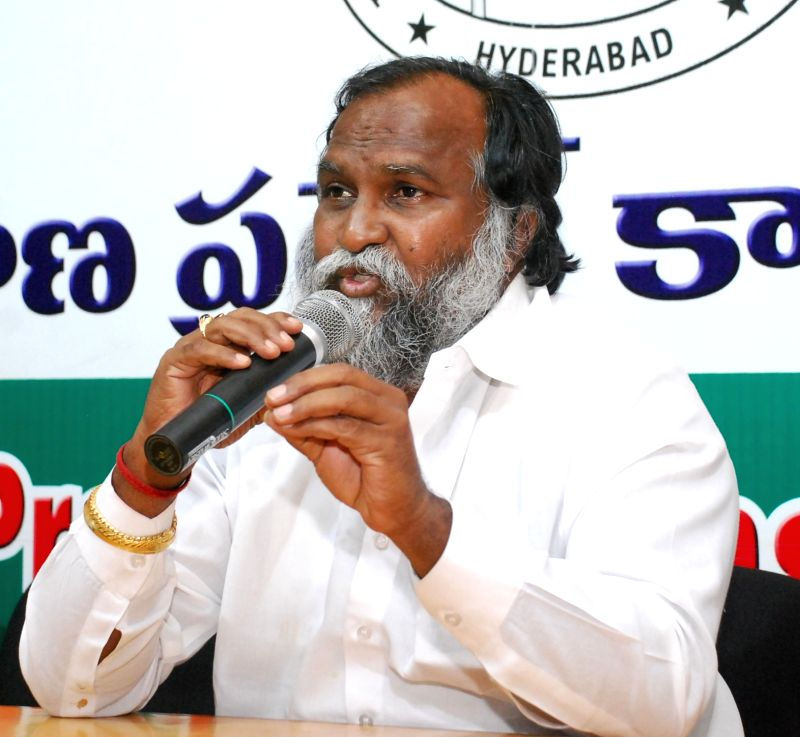 Congress leader Jagga Reddy addresses a press conference in Hyderabad on June 3, 2017. - Jagga Reddy
