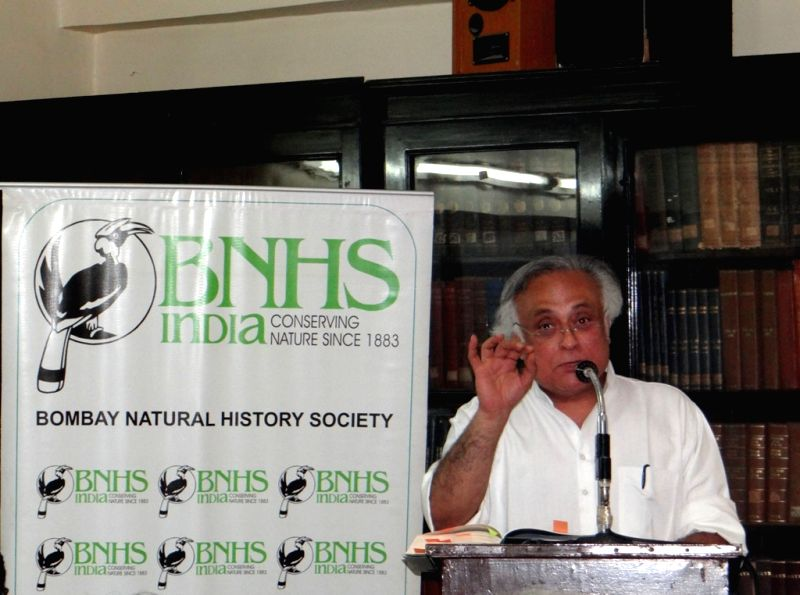 "Congress leader Jairam Ramesh addresses during the release of his book ""Indira Gandhi: A Life in Nature"" in Mumbai on July 10, 2017. - Indira Gandhi"