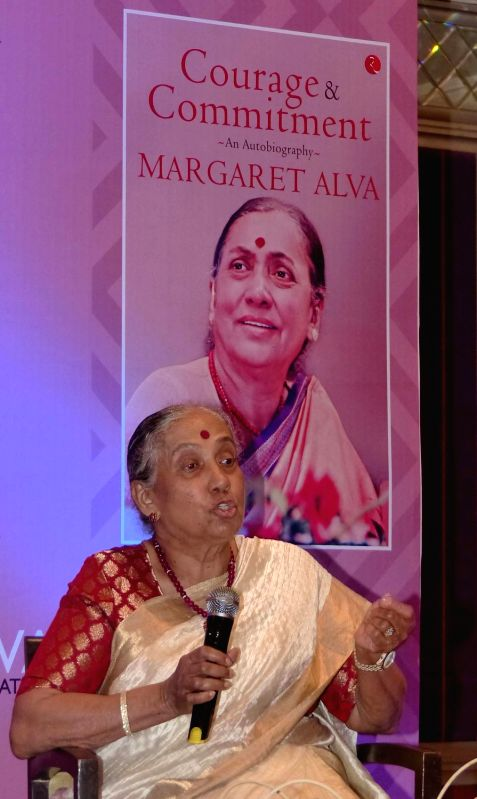 "Congress leader Margaret Alva during the release of her auto-biography ""Courage and Commitment"" in Bengaluru on July 19, 2016."