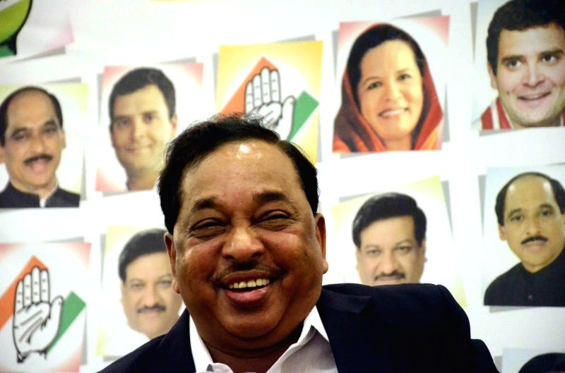 Congress leader Narayan Rane during a press conference after being elected as party's election campaign president in Mumbai on Aug 22, 2014.