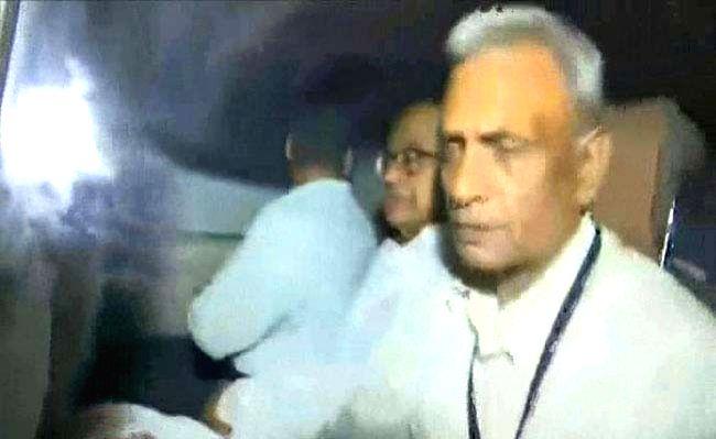 Congress leader P. Chidambaram in CBI custody.