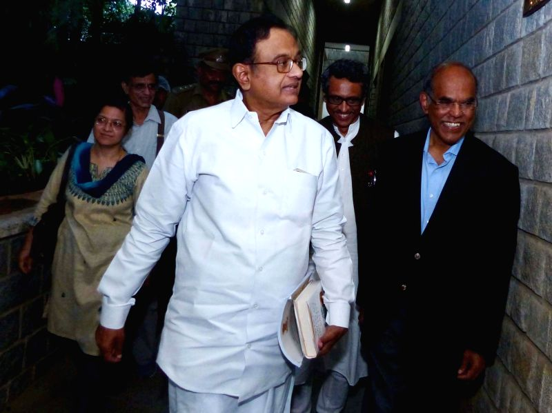Congress leader P. Chidambaram with Former RBI Governor Duvvuri Subbarao and IIM-Bangalore Professor Rupa Chanda during the 11th Annual Global Conference organised by Centre for Public ...