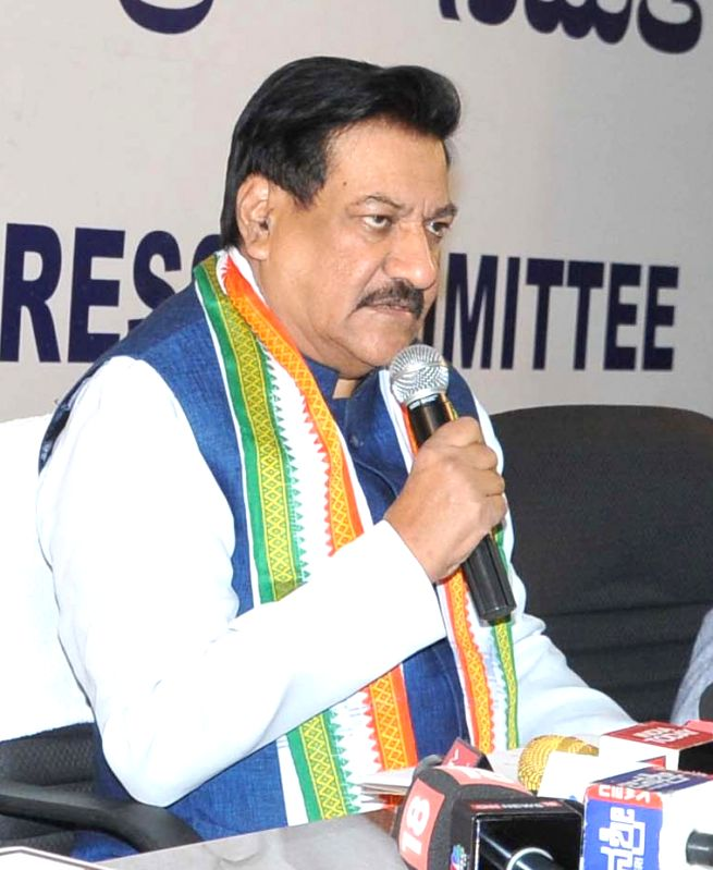 Congress leader Prithviraj Chavan addresses a press conference in Bengaluru, on June 9, 2017.