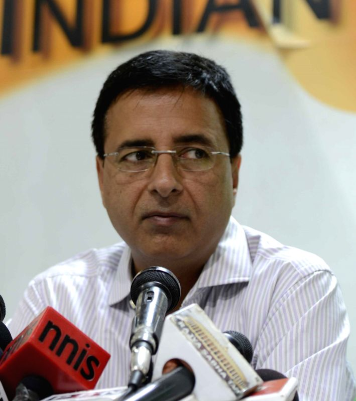 Congress leader Randeep Singh Surjewala. (Image Source: IANS)