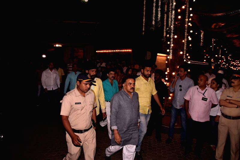 Congress leader Sanjay Nirupam arrives to attend Late actor Shashi Kapoor's condolence meeting in Mumbai on Dec 7, 2017. - Shashi Kapoor