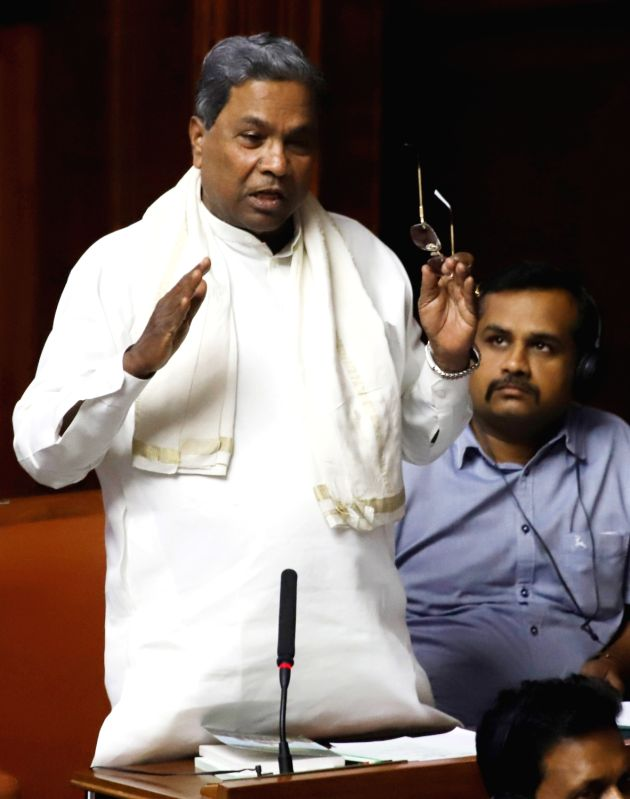 Congress leader Siddaramaiah during the discussion on audiogate controversy at the Karnataka Assembly Session at Vidhana Soudha, in Bengaluru on Feb 11, 2019.