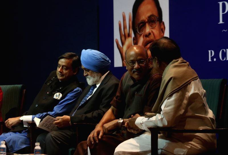 "Congress leaders Shashi Tharoor and P Chidambaram during the release of a book titled ""Speaking Truth to Power"" authored by P Chidambaram in New Delhi on Jan 30, 2018. - Shashi Tharoor"
