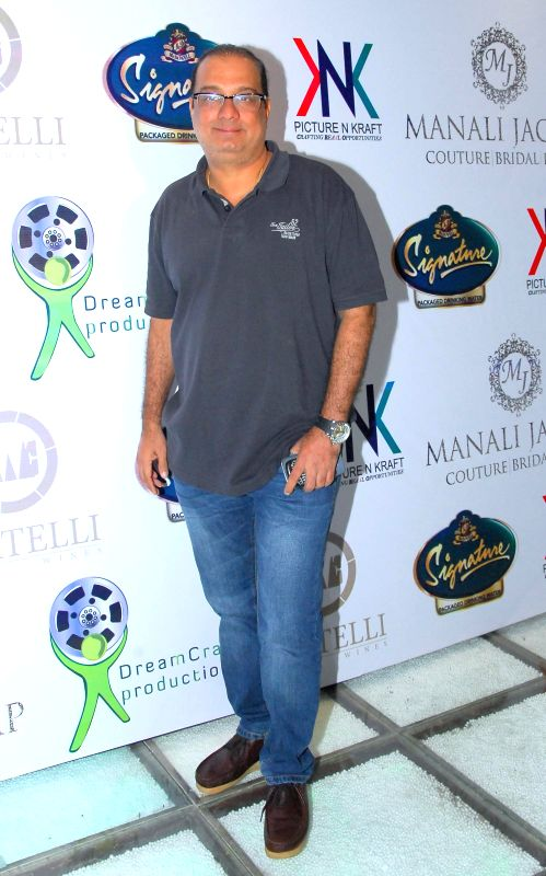 Congress MLA Krishna Hegde during the launch of Manali Jagtap's new `Clutch Closet` bridal handbag collection preview event in Mumbai on July 11, 2014.