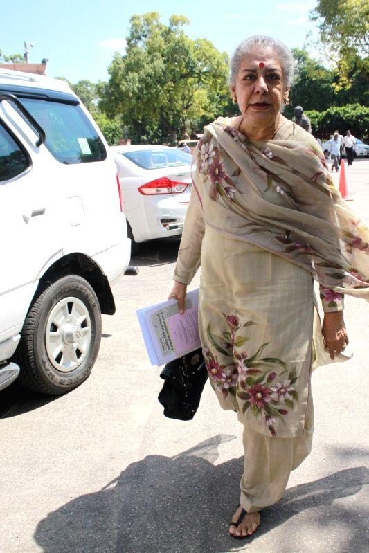 Congress MP Ambika Soni at Parliament in New Delhi, on Aug 3, 2016.