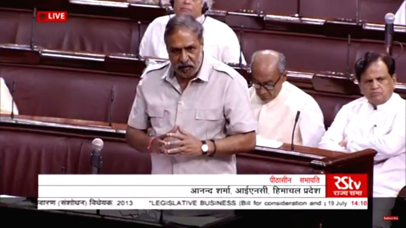 Congress MP Anand Sharma speaking in Rajya Sabha on July 19, 2018. - Anand Sharma