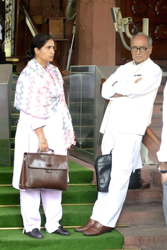 Congress MP Digvijay Singh at Parliament in New Delhi, on Aug 11, 2016. - Digvijay Singh