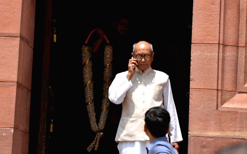 Congress MP Digvijaya Singh at Parliament, in New Delhi on Aug 9, 2018. - Digvijaya Singh